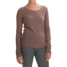 In Cashmere Basic Cashmere Sweater (For Women) in Heather Caramel - Closeouts