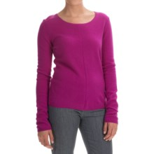 In Cashmere Basic Cashmere Sweater (For Women) in Violet - Closeouts