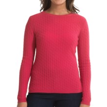 In Cashmere Cabled-Knit Sweater (For Women) in Flamingo Pink - Closeouts