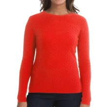 In Cashmere Cabled-Knit Sweater (For Women) in Orange - Closeouts