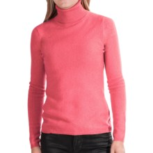 In Cashmere Cashmere Turtleneck - Long Sleeve (For Women) in Coral - Closeouts