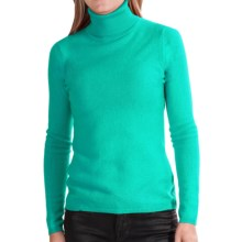 In Cashmere Cashmere Turtleneck - Long Sleeve (For Women) in Emerald Shine - Closeouts