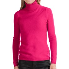 In Cashmere Cashmere Turtleneck - Long Sleeve (For Women) in Fuchsia - Closeouts