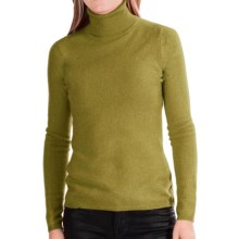 In Cashmere Cashmere Turtleneck - Long Sleeve (For Women) in Olive - Closeouts