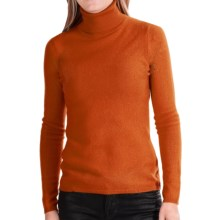 In Cashmere Cashmere Turtleneck - Long Sleeve (For Women) in Paprika - Closeouts