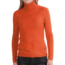 In Cashmere Cashmere Turtleneck - Long Sleeve (For Women) in Poppy Orange - Closeouts
