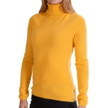 In Cashmere Cashmere Turtleneck - Long Sleeve (For Women) in Sheer Gold - Closeouts
