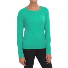 In Cashmere Crew Neck Shirt - Long Sleeve (For Women) in Emerald Shine - Closeouts