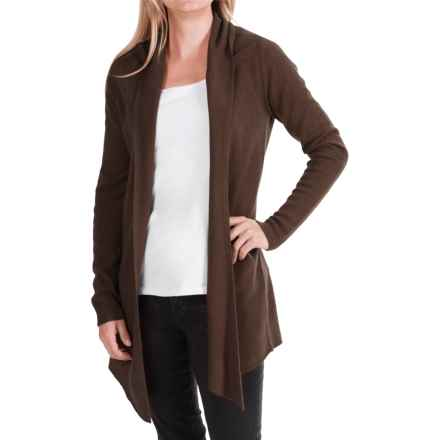 In Cashmere Drape Front Cashmere Duster (For Women) in Dark Chocolate - Closeouts