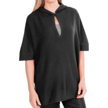 In Cashmere Hooded Poncho (For Women) in Black - Closeouts