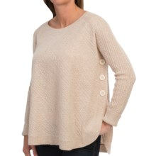 In Cashmere Mixed Cable Poncho (For Women) in Oatmeal Heather - Closeouts