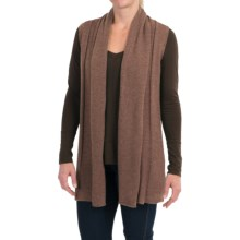 In Cashmere Open Front Cashmere Vest (For Women) in Caramel Heather - Closeouts