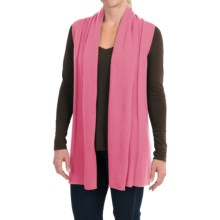 In Cashmere Open Front Cashmere Vest (For Women) in Coral - Closeouts