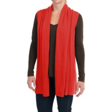 In Cashmere Open Front Cashmere Vest (For Women) in Orange - Closeouts