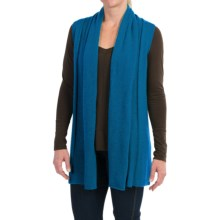 In Cashmere Open Front Cashmere Vest (For Women) in Teal - Closeouts