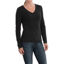 In Cashmere V-Neck Sweater (For Women) in Black - Closeouts