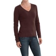 In Cashmere V-Neck Sweater (For Women) in Espresso - Closeouts