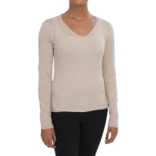 In Cashmere V-Neck Sweater (For Women) in Oatmeal Heather - Closeouts