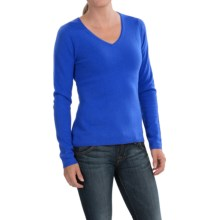 In Cashmere V-Neck Sweater (For Women) in Provence Lbue - Closeouts