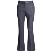 In Moda Belted Dress Pants - Stretch Denim (For Women) in Navy - Closeouts