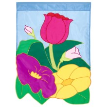 "In the Breeze House Banner Flag - 28x40"" in Floral - Closeouts"