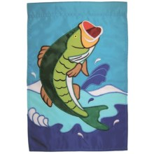 "In the Breeze House Banner Flag - 28x40"" in Jumping Bass - Closeouts"