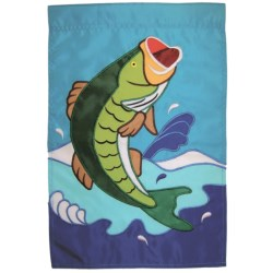 "In the Breeze House Banner Flag - 28x40"" in Jumping Bass"