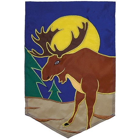 "In the Breeze House Banner Flag - 28x40"" in Moose"
