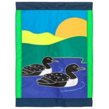"""In the Breeze House Banner Flag - 28x40"""" in Pair Of Loons - Closeouts"""
