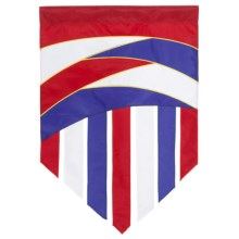 """In the Breeze House Banner Flag - 28x40"""" in Patriot Tail - Closeouts"""