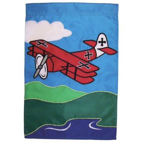"In the Breeze House Banner Flag - 28x40"" in Red Baron"