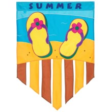 """In the Breeze House Banner Flag - 28x40"""" in Summer Flip Flop - Closeouts"""