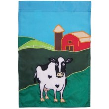 "In the Breeze House Banner Flag - 28x40"" in Farm Cow - Closeouts"