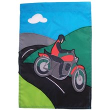 "In the Breeze House Banner Flag - 28x40"" in Motorcycle Man - Closeouts"