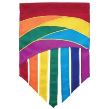 "In the Breeze House Banner Flag - 28x40"" in Rainbow Tail - Closeouts"