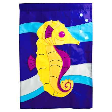 """In the Breeze House Banner Flag - 28x40"""" in Seahorse - Closeouts"""