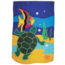 "In the Breeze House Banner Flag - 28x40"" in Sealife Turtle - Closeouts"