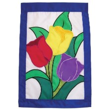 "In the Breeze House Banner Flag - 28x40"" in Tulips Bouquet - Closeouts"