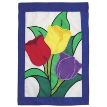 "In the Breeze House Banner Flag - 28x40"" in Tuplip Bouquet - Closeouts"