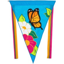 "In the Breeze Pennant Flag - 28x40"" in Butterfly - Closeouts"