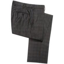 Incotex Benson Wool Check Dress Pants (For Men) in Dark Brown - Closeouts