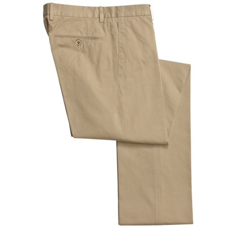Incotex Incochino Cotton Pants - Flat Front (For Men) in Khaki