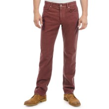 Incotex Ray-C Pants - Cotton Moleskin, Slim Fit (For Men) in Burgundy - Closeouts