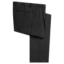 Incotex Salia Superfine Wool Dress Pants - Pleated Front (For Men) in Black - Closeouts