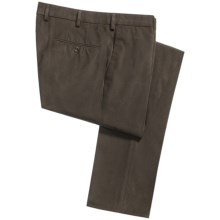 Incotex Scoll Brushed Gabardine Dress Pants - Slim Comfort Fit (For Men) in Dark Brown - Closeouts