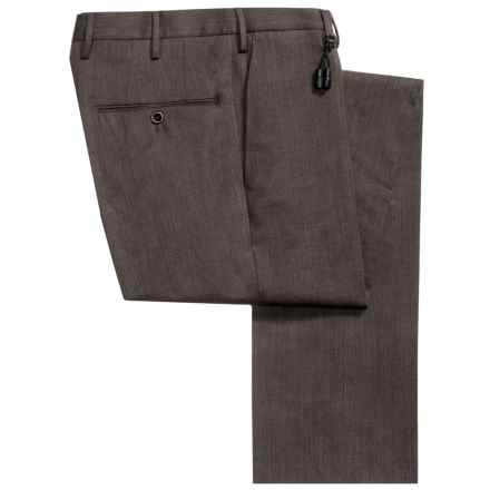 Incotex Sergio Stretch Wool Gabardine Dress Pants - Slim Fit (For Men) in Dark Brown - Closeouts