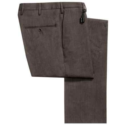 Incotex Sergio Stretch Wool Gabardine Dress Pants - Slim Fit (For Men) in Dark Brown - Closeouts