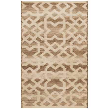 "India Collection Decorative Accent Rug - 27x45"" in Loden Grey - Closeouts"