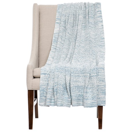 "India's Heritage Pebble Knit Throw Blanket - 50x70"" in Light Blue"