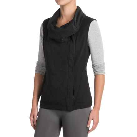 Indigenous Organic Cotton Knit Collar Vest (For Women) in Black - Closeouts